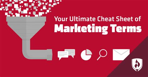 ultimate cheat sheet  common marketing terms