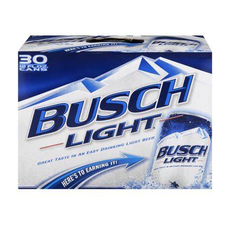 Busch Light 30 Pack Price by Busch Light 30 Pk 12 Fl Oz Cans Walmart