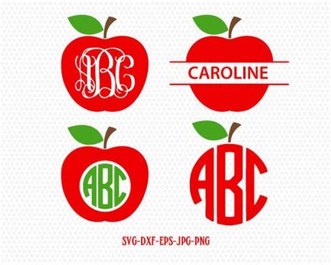 teacher svg apple svg apple monogram svgteacher monogram