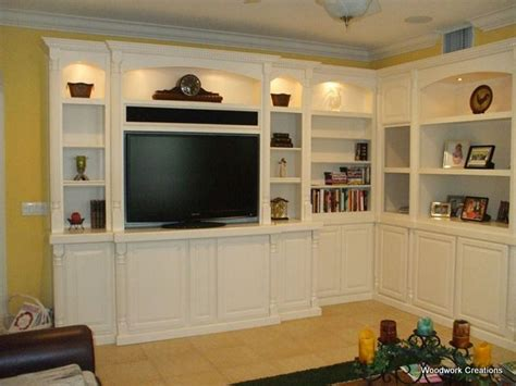 custom corner built  wall unit  white lacquer
