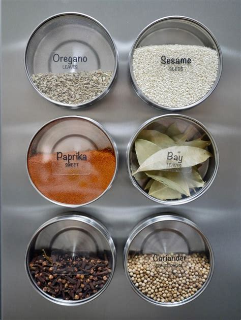 Kitchen Jars Canada by 78 Ideas About Magnetic Spice Jars On Diy