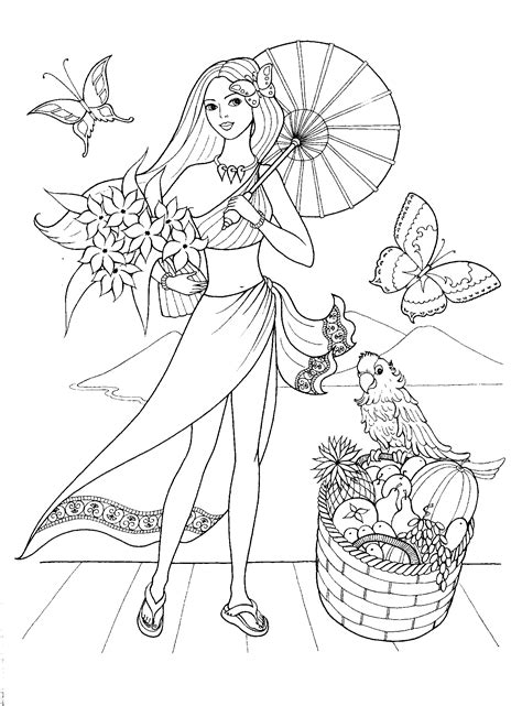 Fashionable girls coloring pages 1 / Fashionable girls