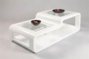 Table Basse Blanche Design : table basse design en bois laqu e blanche eliane tables ~ Preciouscoupons.com Idées de Décoration