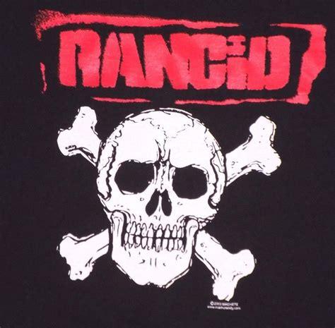 Rancid Skull And Crossbones Black T Shirt Punk Rock ...