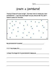 make your own constellation worksheet create your own constellation classroom ideas constellations constellation activities