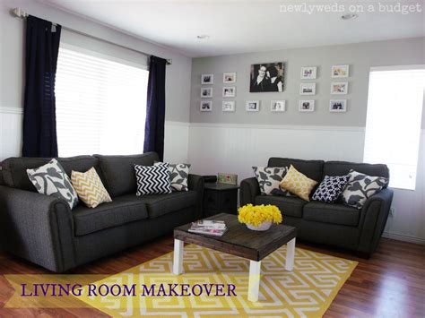 Living Room Ideas With Yellow And Gray by Newlyweds On A Budget Living Room Reveal Diy Home Decor