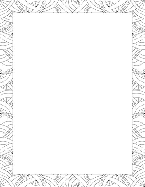 abstract pattern border clip art page border  vector graphics