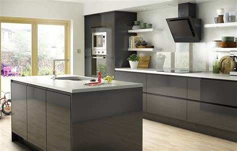 B Q Kitchen Cupboard Handles by It Marletti Anthracite Gloss With Integrated Handle Diy