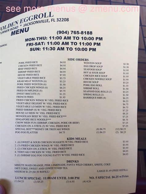 menu   golden eggroll restaurant jacksonville