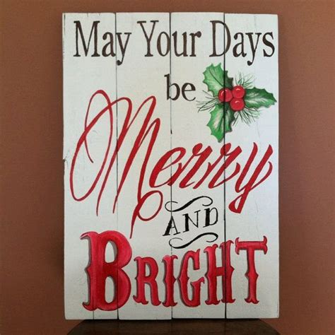 indoor or outdoor christmas sign on recycled pallet wood