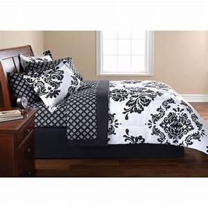 Mainstays, Color, Block, Bed, In, A, Bag, Bedding, Set, U2013, Bedding