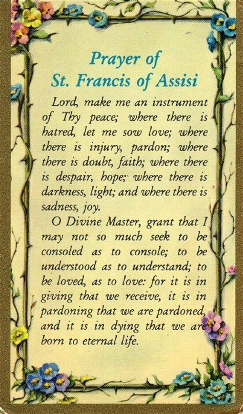prayer of st francis of assisi ideas dads prayer and saints