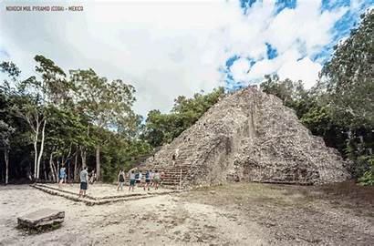 Ancient Monuments Reconstruction Gifs Animated Mexico Pyramid