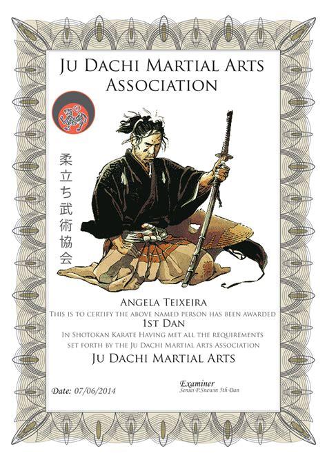 certification judachi martial arts