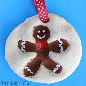 Fingerprint Gingerbread Man Salt Dough Ornament - Crafty ...