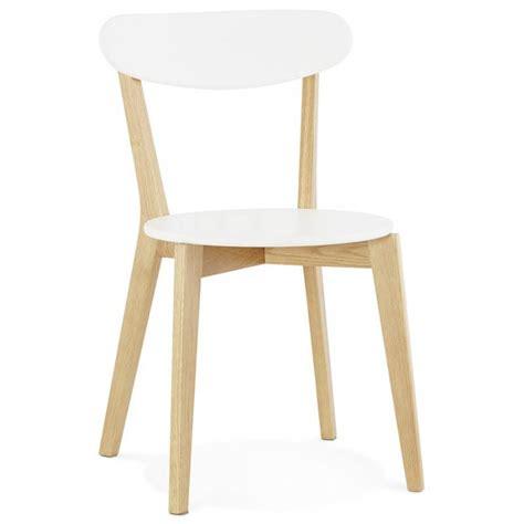 Chaise Design Style Scandinave Scandi En Bois (blanc
