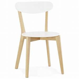 Chaise Bois Scandinave : chaise design style scandinave scandi en bois blanc ~ Teatrodelosmanantiales.com Idées de Décoration