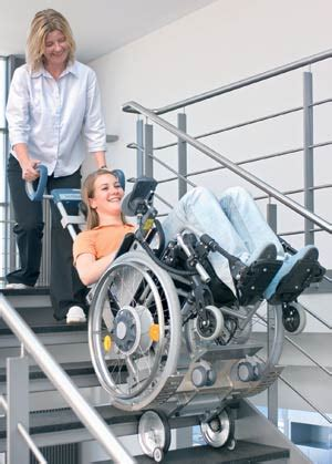 climb stairs in your own wheelchair with scalamobil