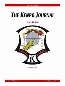 Kenpo Journal User Guide