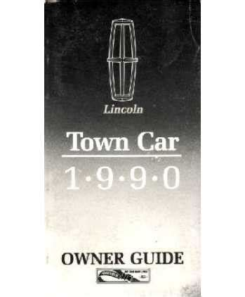 download car manuals pdf free 1990 lincoln town car electronic throttle control 1990 lincoln town car owners manual