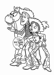 Cowboys from Toy story coloring pages for kids, printable ...