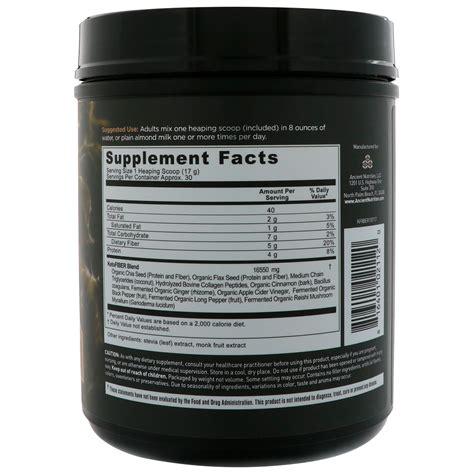 dr axe ancient nutrition keto fiber superfood fiber