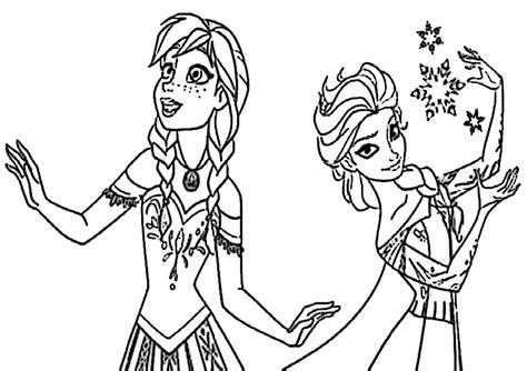 Ausmalbilder Anna Und Elsa Drucken