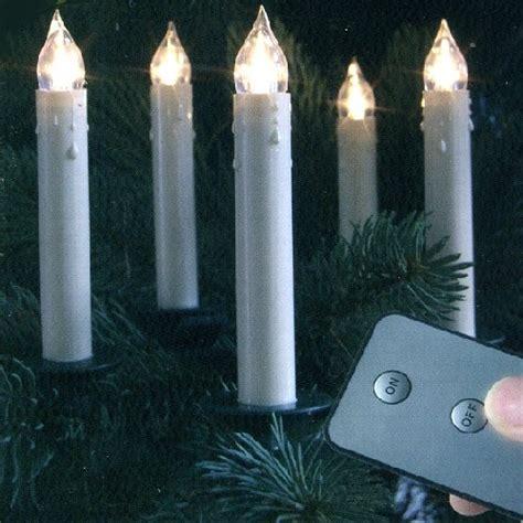 led weihnachtsbaum kerzen slim line kabellos 10er