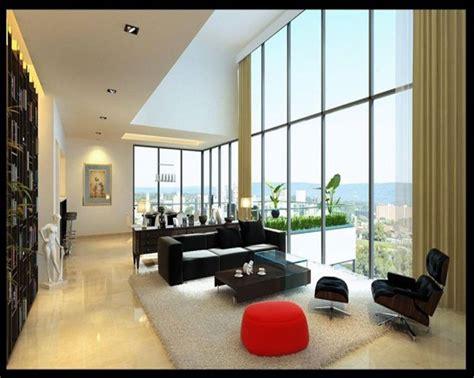 apartments modern studio apartment living room ideas  black sofa  red sofa  soft