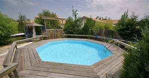 Piscine Semi Enterré Bois : tous les types de piscines en bois ~ Premium-room.com Idées de Décoration