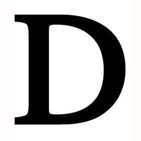 letter d wrought iron letter d