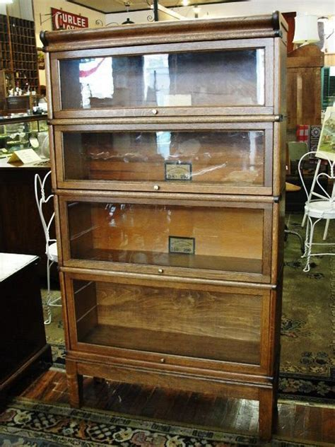 Cool Bookcases For Sale by Quartersawn Oak Globe Wernicke Stacking Barrister Bookcase