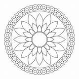 Mandala Coloring Pages Simple Mandalas Flower Printable Designs Trace Pattern Pretty Very sketch template