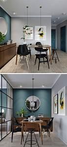 Deco Bleu Petrole : mur bleu canard et style loft blog d co assieds toi ~ Farleysfitness.com Idées de Décoration