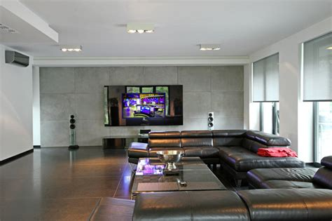 Home Cinema In Living Rooms   Contemporary  Living Room