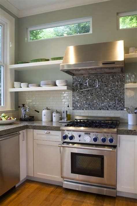galley kitchens pictures like the idea of glass tiles stove up to and 1183