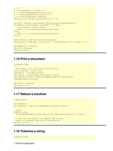 on error resume next set s createobject wscript shell set