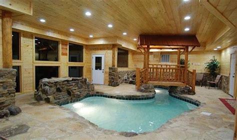 log cabin house   pool    pools pigeon