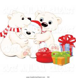 Polar Bear Family Clip Art