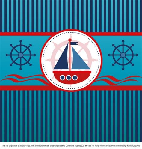 Nautical Background Vintage Nautical Background With Stripes Vector Free