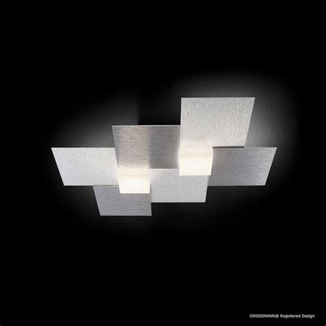 luminaire led cuisine plafonnier led grossmann créo gris métallique aluminium