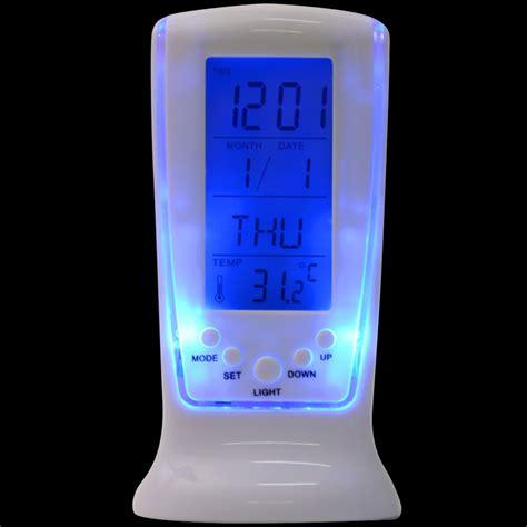 night light app with timer modern unique phone digital lcd alarm clock calendar