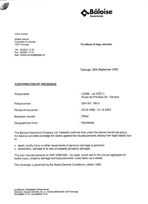Best Photos of Proof Of Insurance Letter Template - Health