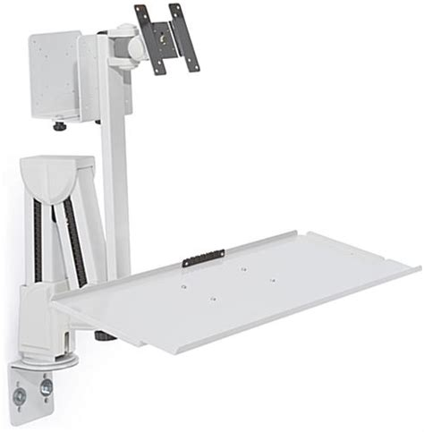 Desk Mount Monitor Arm With Keyboard Tray by Monitor Arm With Keyboard Tray Desk Or Wall Mount