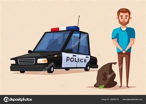 Bandera de la policía Vector ilustración de dibujos