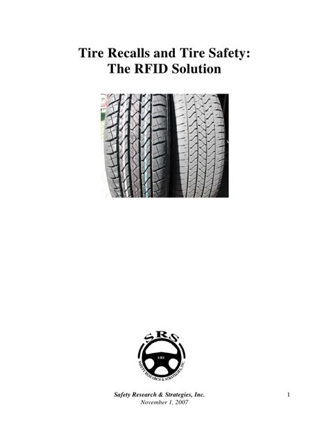 rfid  real solution   real problems  tire safety