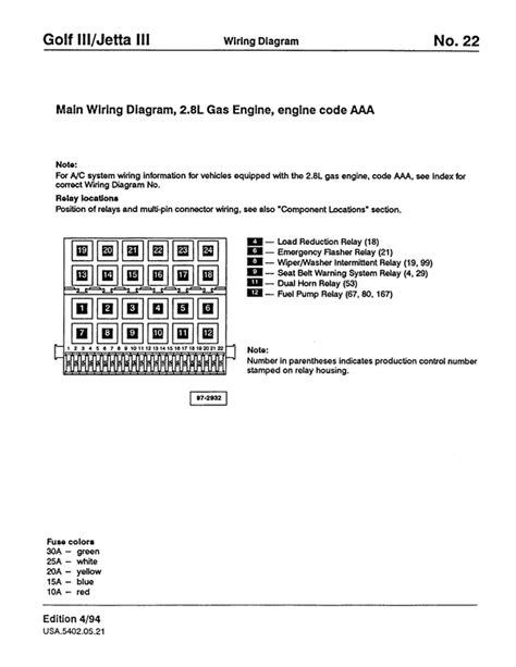 vw golf 3 jetta 3 wiring diagram service manual pligg
