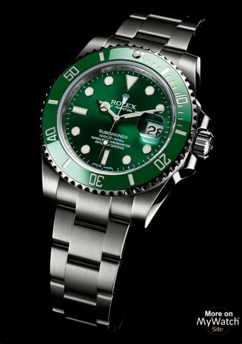 rolex submariner date made of steel green cerachrom bezel for collection oyster