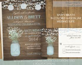 rustic wedding invitation jar wedding invitations suite rustic by notedoccasions