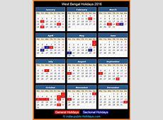 West Bengal Holidays 2016